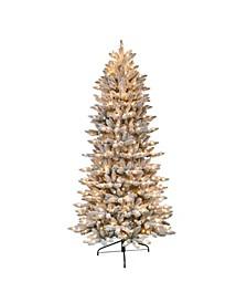 "4.5"" Pre-Lit Slim Flocked Fraser Fir Artificial Christmas Tree"