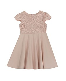 Little Girl Lace Scuba Crepe Dress