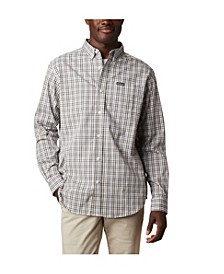 Men's Big and Tall Rapid Rivers II Checked Long-Sleeve Shirt