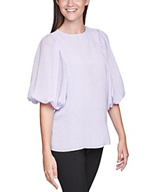 Balloon-Sleeve Top