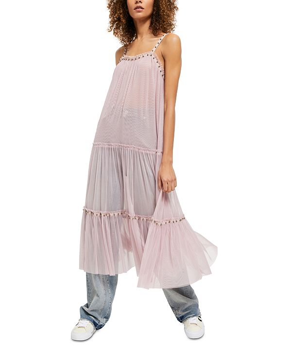 Free People Night Out Mesh Maxi Dress