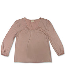 Style & Co Plus Size V-Neck Top, Created for Macy's