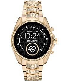 Women's Gen 5 Bradshaw Gold-Tone Stainless Steel Smartwatch 44mm