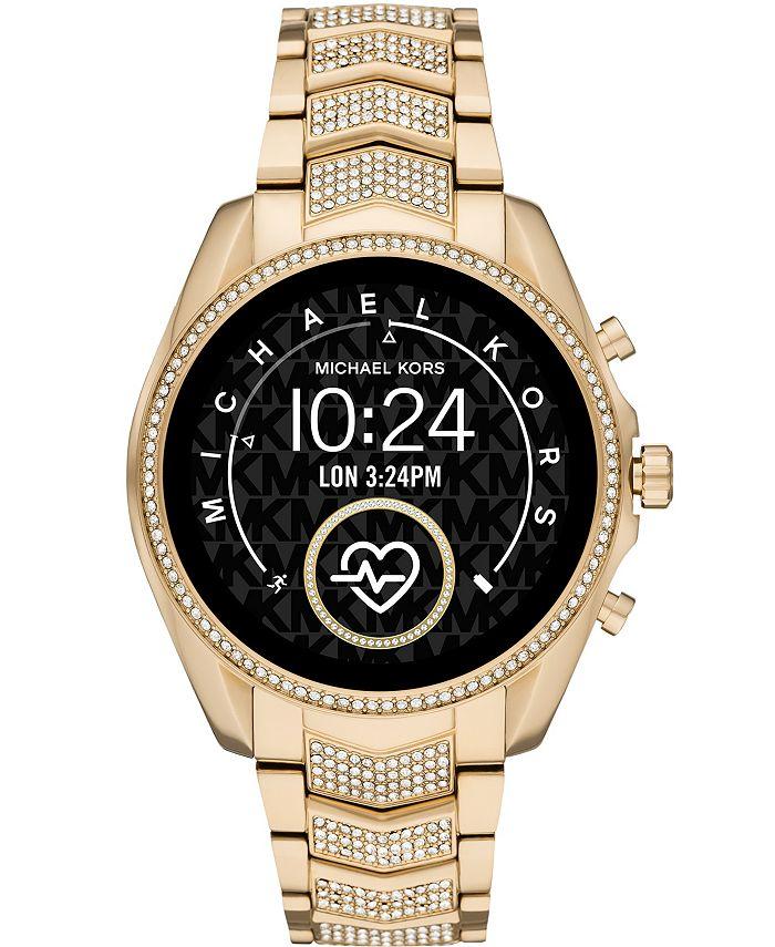Michael Kors - Women's Gen 5 Bradshaw Gold-Tone Stainless Steel Smartwatch 44mm