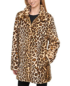 Faux-Fur Cheetah Print Coat