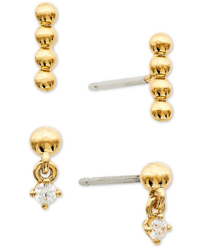 AVA NADRI - 2-Pc. Set Cubic Zirconia & Bead Earrings