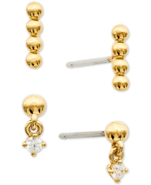 2-Pc. Set Cubic Zirconia & Bead Earrings
