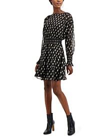 INC Petite Printed Ruffle-Hem Dress, Created for Macy's