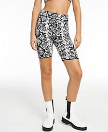 CULPOS x INC Snake-Print Biker Shorts, Created for Macy's