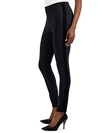 INC Velvet-Trim Skinny Ponte Ankle Pants, Created for Macy's