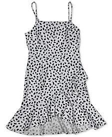 Dot-Print Ruffled Mini Dress, Created for Macy's