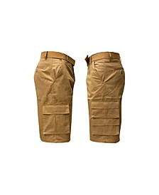 Men's 7-Pocket Cargo Belt Shorts