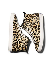 Women's Kickstart Hi KS Leopard Calf Hair Sneakers