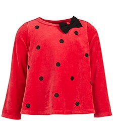 Baby Girls Long-Sleeve Dot Top, Created for Macy's