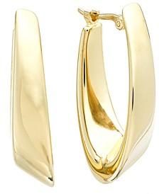 14k Gold Earrings, Visor Earrings