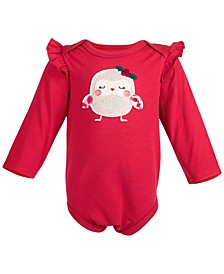 Baby Girls Holiday Owl Bodysuit, Created for Macy's