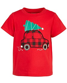 Baby Boys Holiday Car Cotton T-Shirt, Created for Macy's