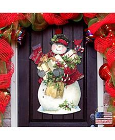 by Susan Winget Dark Night Presents Santa Wall and Door Decor