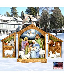 by Susan Winget Holly Family Nativity Outdoor, Wall and Lawn Decor, Set of 3