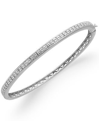 Victoria Townsend Rose-Cut Diamond Bangle Bracelet in 18k Gold-Plated Brass or Sterling Silver-Plated Brass (1/2 ct. t.w.)