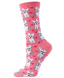 Puppy Love Women's Novelty Socks
