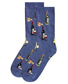 Wine and Cheese Women's Novelty Socks