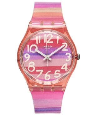Swatch Watch, Unisex Swiss Astilbe Multi-Color Plastic Strap 34mm GP140