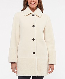 Faux-Sherpa Teddy Coat