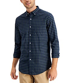 Men's Checked Stretch Cotton Shirt with Pocket, Created for Macy's