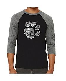 Cat Paw Men's Raglan Word Art T-shirt