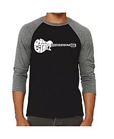 Don't Stop Believing Men's Raglan Word Art T-shirt