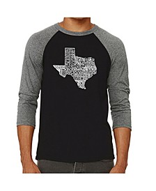 The Great State of Texas Men's Raglan Word Art T-shirt