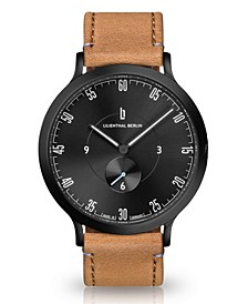 L1 All Light Brown Leather Strap Watch, 42mm