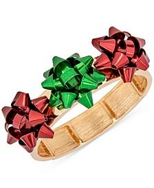 Tri-Tone Triple Bow Stretch Bracelet, Created for Macy's