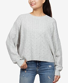 Juniors' Cable-Knit Sweater