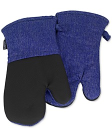 Chambray Oven Mitts, Set of 2
