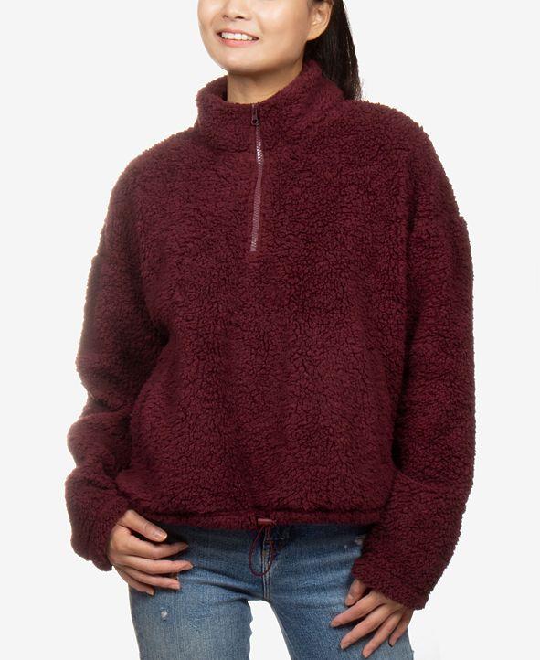 Hippie Rose Juniors' Sherpa Sweatshirt