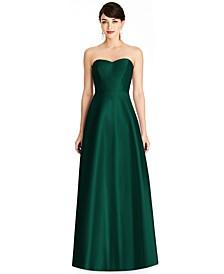 Strapless Satin Twill Gown