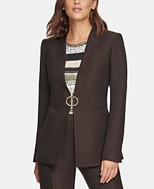Collarless D-Ring Blazer, Regular & Petite Sizes