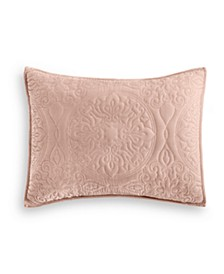 Medallion Tufted Velvet Quilted Standard Sham, Created for Macy's