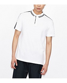 Short Sleeve Logo Stripe Polo Shirt