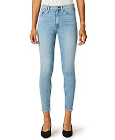 Barbara Ripped High-Rise Ankle Skinny Jeans