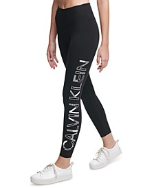 Printed-Logo Leggings