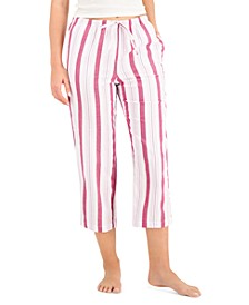 Printed Cotton Cropped Pajama Pants, Created for Macy's