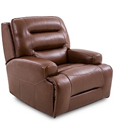 Adalton Leather Recliner with Power Headrest, Created for Macy's