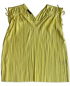 Plus Size Pleated Sleeveless Top, Created for Macy's