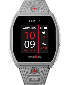 Men's Ironman R300 Light Gray Silicone Strap GPS Smart Watch with Heart Rate 41mm