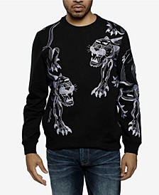 Men's Big and Tall Dual Panther Crew Neck Sweatshirt