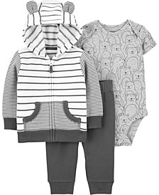 Baby Boy 3-Piece Striped Little Jacket Set