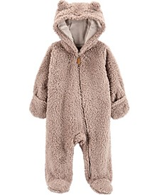 Baby Boy  Hooded Sherpa Pram